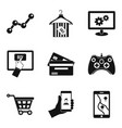 mobile info icons set simple style vector image vector image