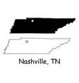 Nashville tennessee tn state border usa map