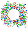 new year background white round with colorful vector image vector image
