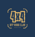 off-road club emblem vector image