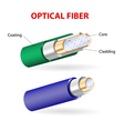 Optical fibers vector image