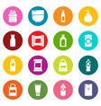 packagiong store shop icons set colorful circles vector image vector image