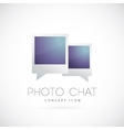 Photo chat concept symbol icon vector image vector image