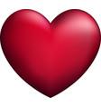 pink 3d heart vector image vector image