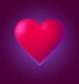 red heart on dark red background for valentines vector image