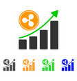 ripple growing chart icon vector image vector image