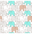 seamless pattern elephant vector image vector image
