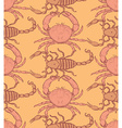 Sketch crab and scorpion in vintage style vector image vector image