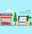 smart car flat design vector image vector image