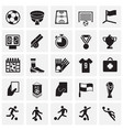 soccer icons set on squares background for graphic vector image