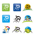 spinning cycling icons web buttons vector image