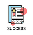 success icon on white background vector image