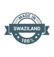swaziland stamp design vector image
