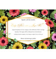 template watercolor floral invitation of gerberas vector image