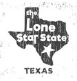 texas - lone star state t-shirt stamp vector image