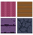 Textures for Platformers Icons Set of Stone vector image vector image