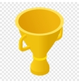 Trophy cup isometric 3d icon vector image vector image