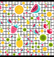 tropical cartoon fruits seamless pattern vector image vector image