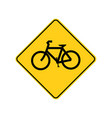 usa traffic road sign bicycle aheadcrossing vector image vector image