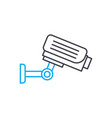 video surveillance system linear icon concept vector image