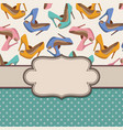 vintage frame with shoes and text place vector image vector image