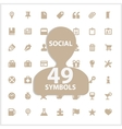 Web and social symbols set vector image