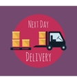 Cargo and delivery freight truck vector image