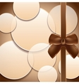 Cover of the present box abstract brown background vector image