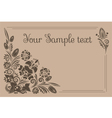 vintage banner with floral ornament vector image