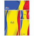 abstract romania flag background vector image vector image