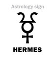astrology planet hermes vector image vector image