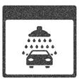 Automobile Shower Calendar Page Grainy Texture vector image vector image