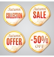 Autumn Sale Stickers vector image vector image
