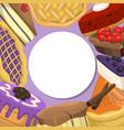 baking shop pie menu vector image vector image