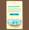 business property landing page template vector image