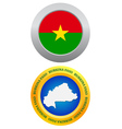 button as a symbol BURKINA FASO vector image vector image