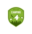 Camping Label Vintage Mountain winter camp vector image vector image