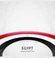 celebrating egypt independence day vector image vector image