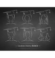 Chalkboard drawings of students vector image vector image