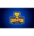 champion league sport text creative logo design vector image