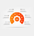 chart of percentage infographics element of graph vector image vector image