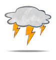 climate cloud and lightning vector image vector image