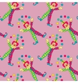 clowns seamless pattern background vector image vector image