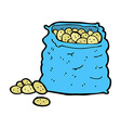 comic cartoon sack of potatoes vector image