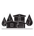 country house black concept icon country vector image vector image