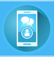 creative mobile chat vector image vector image