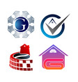 creative real estate logo set collection building vector image vector image