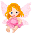 Cute Baby Fairy vector image