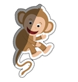 cute mokey cartoon vector image vector image