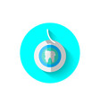 dental floss icon in flat design vector image